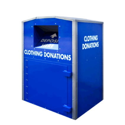 Clothing Bins relocated